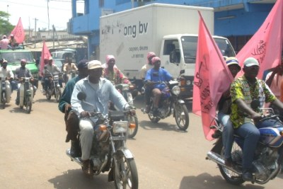 Opposition supporters in Lome. (file photo)