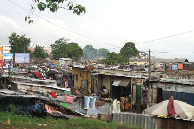 A seaside slum in Conakry.