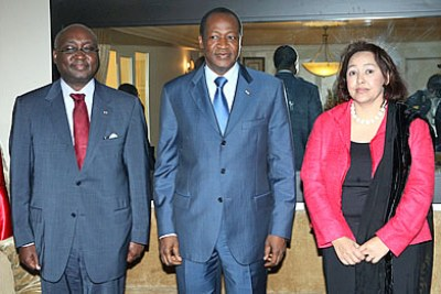 From left to right: AfDB President, Dr. Donald Kaberuka; H.E. Blaise Compaoré, President of the Republic of Burkina Faso and Dr. Frannie Léautier, ACBF Executive Secretary
