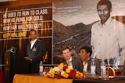 Diegeo launched Haile as Johnnie Walker's new face at the global commercial campaign held at the Sheraton Addis.
