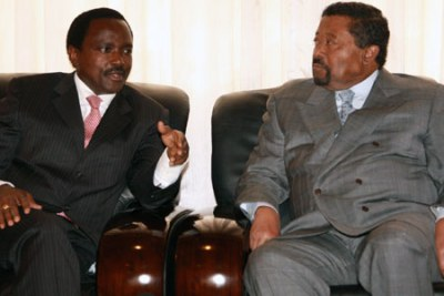 Vice-President Kalonzo Musyoka lobbied Africa Union Commission chair Jean Ping at AU headquarters in Addis Ababa.