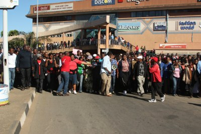 Teachers have been striking since June in Swaziland for a 4.5 percent cost of living increase (file photo).