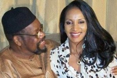 The late Biafra leader, Chief Chukwuemeka Odemegwu-Ojukwu, and his wife, Bianca.