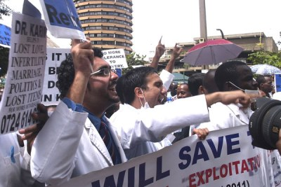 Doctors protesting (file photo)