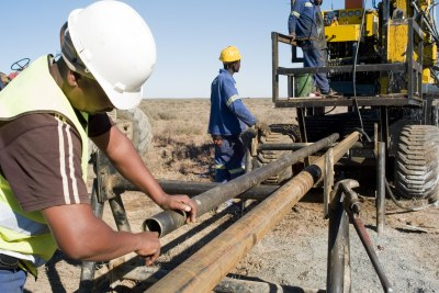 Beaufort West, Western Cape: Prospecting operations, looking for uranium reserves.