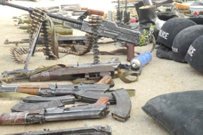 Arms recovered from gunmen in Borno