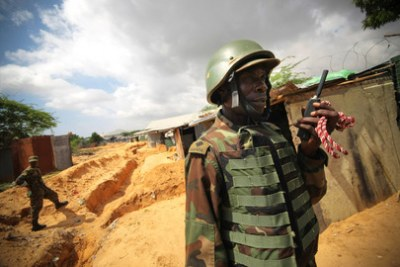 African Union troops are in Mogadishu to fight Al Shabaab militants.