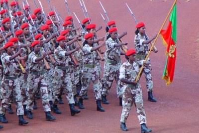 Eritrean soldiers (file photo).