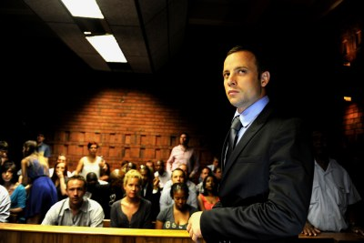 Paralympian Oscar Pistorius in court (file photo).