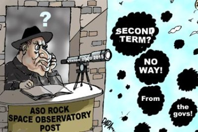 President Goodluck Jonathan second term cartoon