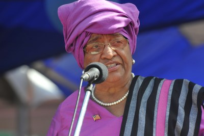 Liberian President Ellen Johnson Sirleaf (file photo).