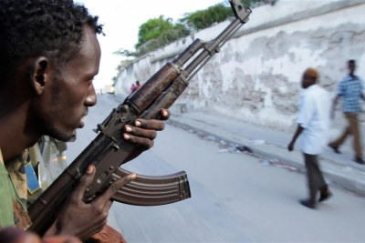 A soldier of the Somali National Army