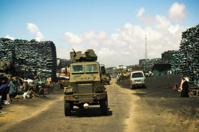 African Union convoy in Kismayo