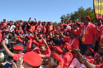 Economic Freedom Fighters supporters.