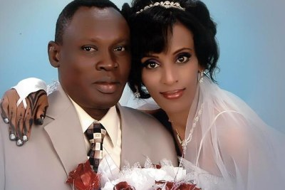 Wedding photo of Meriam Ibrahim and Daniel Wani.