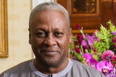 John Dramani Mahama, President of the Republic of Ghana.