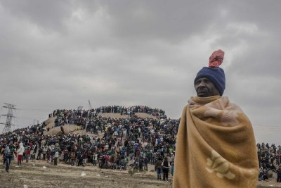 Thousands gather at the koppie for the second anniversary commemoration of the Marikana massacre (file photo).