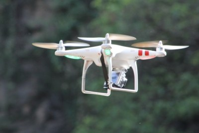 The African skyCAM, a piloted drone used to assist journalists.
