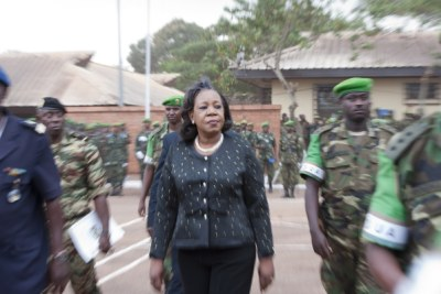 Transitional president Catherine Samba-Panza (file photo).