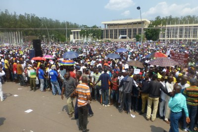 Opposition parties protest in Brazzaville.
