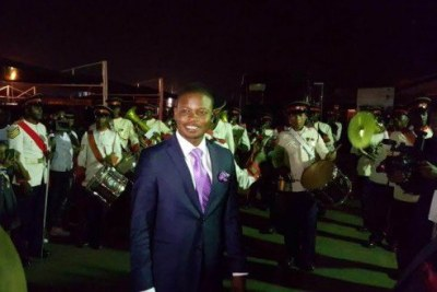 Malawi Prophet Shepherd Bushiri with Zambia Security Forces brass Band