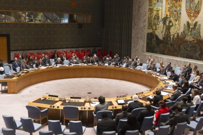 UN Security Council meeting (file photo).