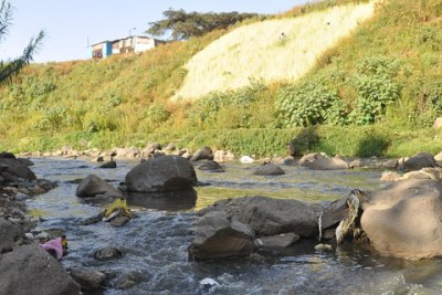 A river in Addis Ababa.
