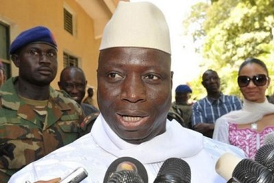 Gambia's long serving President Yahya Jammeh.