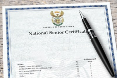 National Senior Certificate (file photo).