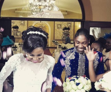 White Wedding Joy for Caster Semenya