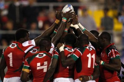 Kenya Sevens rugby team (file photo)