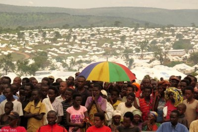 Burundian refugees (file photo).