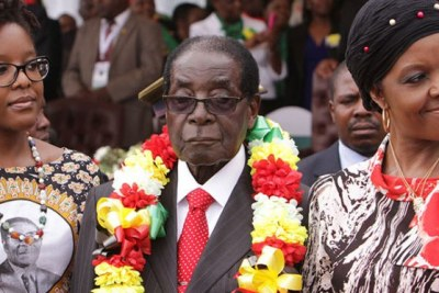 The Mugabes (file photo).