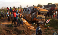 Dozens Dead, Several Hurt After Bus, Tanker Crash