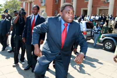 Opposition leader Hakainde Hichilema (file photo).