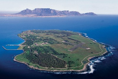 Aerial view of Robben Island.