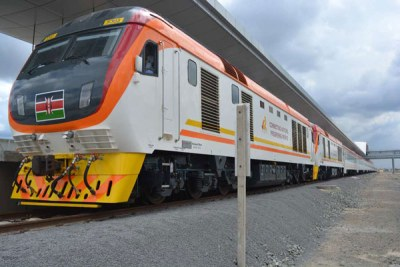 A new train at the Nairobi terminus on May 29, 2017.