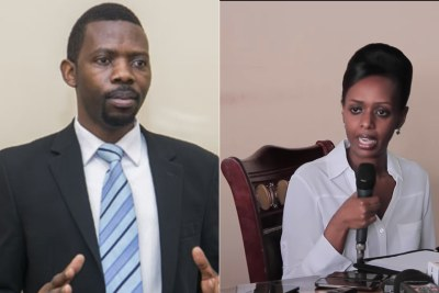 Independent presidential aspirants, Phillipe Mpayimana and Diane Shima Rwigara.