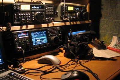 Amateur radio station.