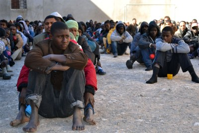 Migrants in Libya (file photo).