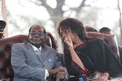 President Robert Mugabe and First Lady Grace Mugabe.