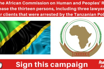 A petition for the release of the group being held in Tanzania
