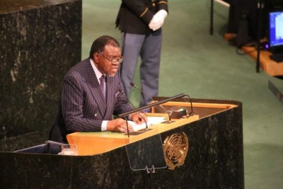 President Hage Geingob (file photo).