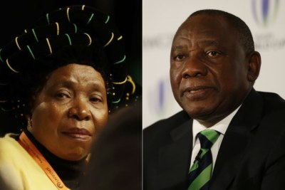 Left: ANC MP Nkosazana Dlamini-Zuma. Right: Deputy President Cyril Ramaphosa.