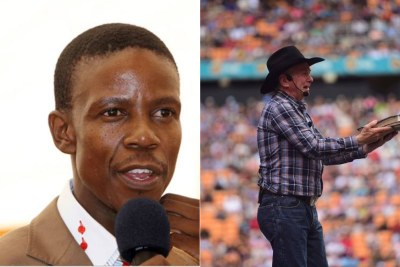 Pastor Mboro and Pastor Angus Buchan (file photo)