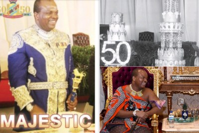 The Observer on Saturday reported the King Mswati III's birthday cake was