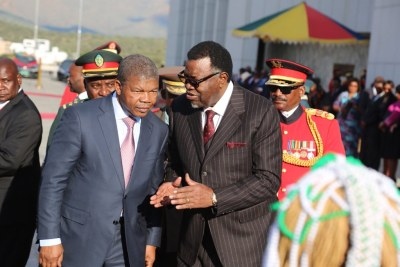 The President of the Republic of Angola, João Lourenço, landed in the Namibian capital of Windhoek to participate in the 40th-anniversary ceremonies of the Cassinga Massacre. (file photo).