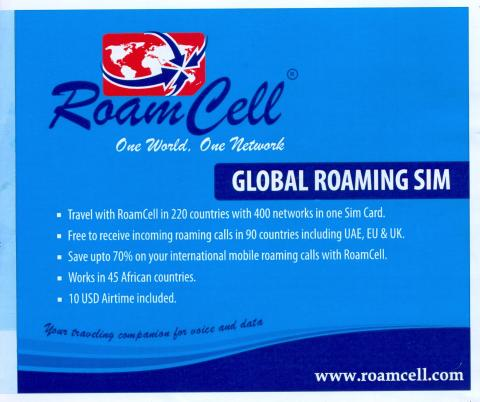 Roamcell covers 45 countries in Africa