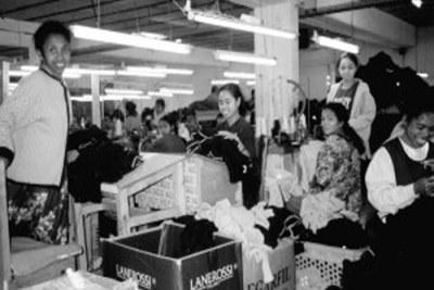 Une usine de textile au Madagascar