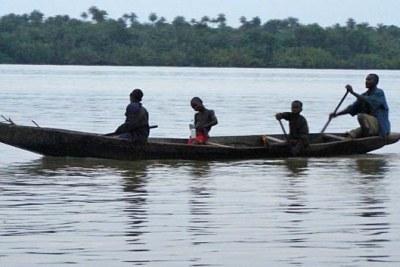 Fishermen in the Niger Delta.